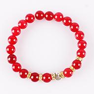 Red Agate Buddha Bracelet
