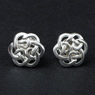 Earrings in Silver - Flower design