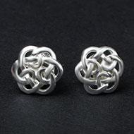 Earrings in Silver - Flower design