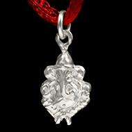 Ganesh Locket in Pure Silver - Design XXIX