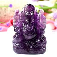 Ganesha in Amethyst-182 gms