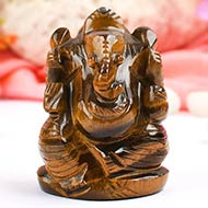 Tiger Eye  Ganesha - 124 gms
