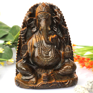 Tiger Eye Ganesha - 483 gms