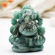 Ganesha in Emerald - 130 carats