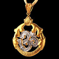 Om Locket in Pure Gold - 6.35 gms