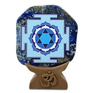 Shree Saraswati Yantra on Lapiz Lazuli