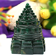 Green Jade Shree Yantra - 384 gms