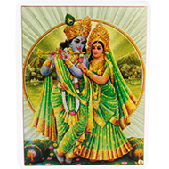 Radha Krishna Glittering Photo