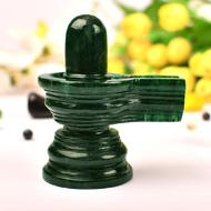 Green Jade Shivlinga - 236 gms