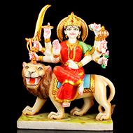 Goddess Durga marble idol - 15 inches
