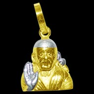 Saibaba Locket in Pure Gold