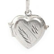 Heart Locket - in Pure Silver - Design I