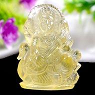 Goddess Saraswati in Lemon Topaz - 220.55 carats