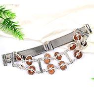 Indrakshi bracelet in silver - JS - Design V