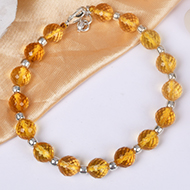 Yellow Citrine Feceted Bracelet