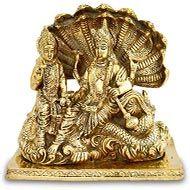 Vishnu Lakshmi statue in brass