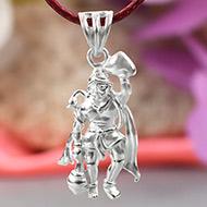 Hanuman with Sanjeevani locket in pure silver