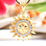 Surya Locket in Pure Gold - Design I