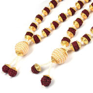 Rudraksha Beads Deity Garland - Set of 2
