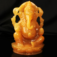 Yellow Jade Ganesh - 908 gms