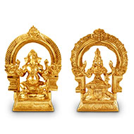 Ganesh Laxmi idol in Bronze