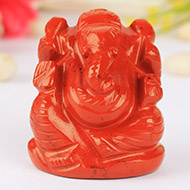 Ganeshji in Red Jasper - 87 gms