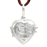 Heart Locket - in Pure Silver - Design V