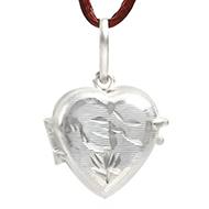 Heart Locket - in Pure Silver - Design V