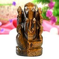 Tiger Eye Ganesha-145 gms