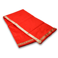 Red Silk Dhoti with Shawl