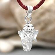 Ganesh Locket in Pure Silver - Design LI