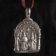 Lakshmi Ganesh Pendent in Pure  Silver