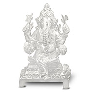 Chaturbhuj Ganesh in pure silver