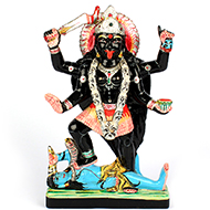Maa Kaali in black marble idol - 12 inches