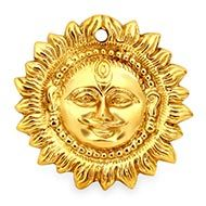 Surya Face in brass
