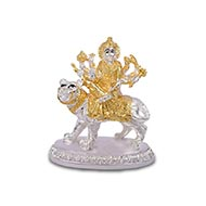 Durga with gold silver coating