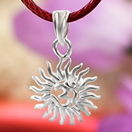 Om Locket in Pure Silver - Design XV