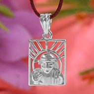 Saibaba Locket in Pure Silver - I