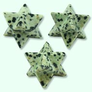 Star Pyramid in (White Snowflake Obsidian) - Set of 3