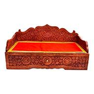 Wooden Sinhasan