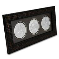 Laxmi Ganesh and Shree Yantra in Silver with frame