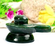 Green Jade Shivaling - 76 gms