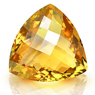 Yellow Citrine - 9.20 carats - Trillion