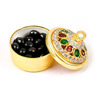 Black Chirmi beads box