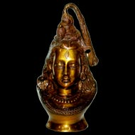 Shiva Head in Brass