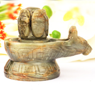 Pashupatinath Lingam in Cat's Eye - 438 gms