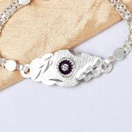 Pure silver Rakhi - Design XIII