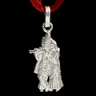 Radha Krishna Locket in Pure Silver