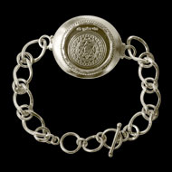 Kuber Yantra Silver Bracelet