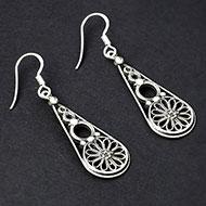 Earrings in pure silver - 4.90 gms